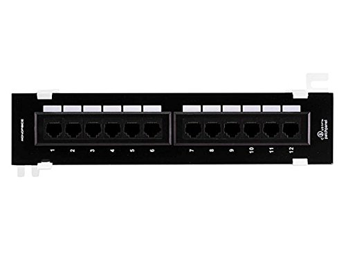 12 Port Cat5e Patch Panel (Monoprice 107299 Cat5e Mini 110 Type 12-Port (568A/B Compatible) Vertical Patch Panel)