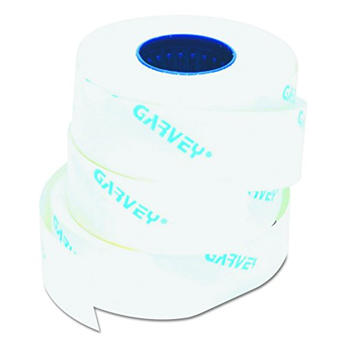 Garvey One-Line Pricemarker Labels, 7/16 x 13/16 Inches, White, 1200/Roll, 3 Rolls/Box (090944) Photo #1