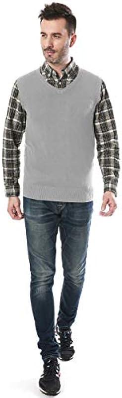 Mocotono męska kamizelka z dekoltem w kształcie litery V bez rękawÓw: Odzież