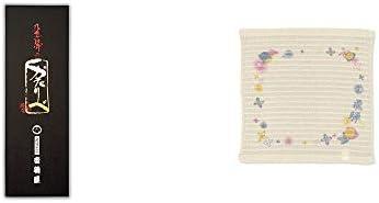 [2点セット] 岐阜銘菓 音羽屋 飛騨のかたりべ[6個入] ・(飛騨限定)さるぼぼ コラーゲンぷちたおる洗顔用【ベージュ】(綿100%)
