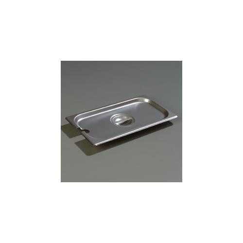 Carlisle DuraPan Steam Table Pan Cover, 1/3 size, slotted, flat, lift-off, recessed handle, dishwasher safe, 24 gauge 18/8 stainless steel, 607130CS