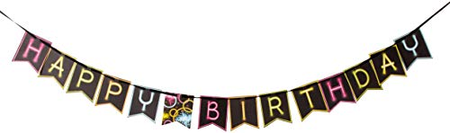 Glow In The Dark Happy Birthday Banner (Shaped Ribbon Banner 'Happy Birthday', One)