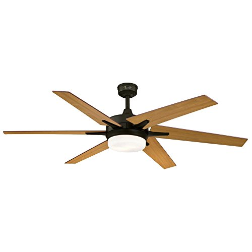 Westinghouse Lighting Remote Control Included 7207800 Cayuga 60-inch Oil Rubbed Bronze Indoor Ceiling Fan, Dimmable LED Light Kit with Opal Frosted Glass, by Westinghouse Lighting (Image #3)