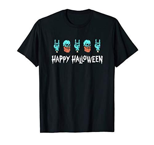 Beard Skull Happy Halloween T Shirt Happy cute monster tee for $<!--$16.99-->