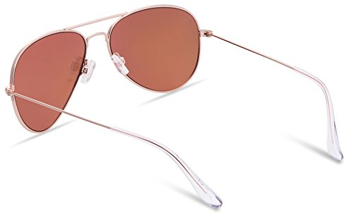 Mirrored JAVIOL pink de Gold soleil M Homme Lunettes xwn0RZqw8