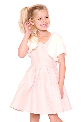 Hannah Banana, Big Girls Elegant Jewel Neck Dress with Bolero (2PC Set), 4-6X, 7-16 (6X, Blush (Pink Jewel Neck Rhinestone)