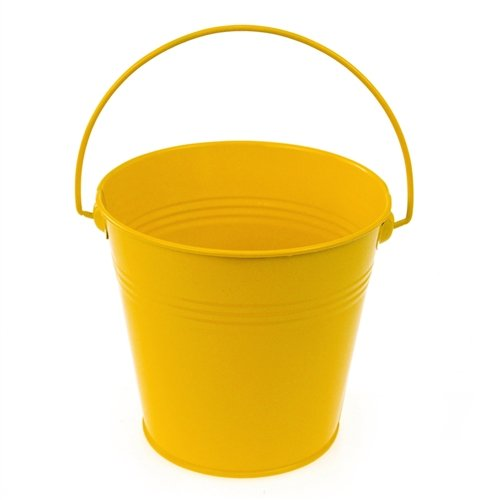 Homeford FCF041959YEL Metal Pail Buckets Party Favor, 5