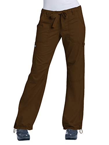 Cargo Cord Pants - KOI Women's Lindsey Ultra Comfortable Cargo Style Scrub Pants (Tall Sizes), Espresso, Large