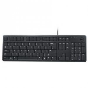 Dell 2GR91 Slim USB 104-Key Keyboard with Fold-out Feet for Select Dell Models (Black) - Princess Computer Keyboard