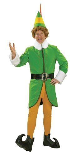 Buddy The Elf Deluxe Men's Costume (XL) by Halloween FX (Deluxe Buddy The Elf Costume)