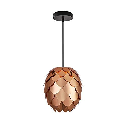 - Modern Chandeliers Ceiling Lights Pendant Concise Style Artichoke Shaped Copper-Plating pp DIY Lamp Shade with Cable and Lamp Base Not Included Light Bulb 3C ce Fcc Rohs for Living Room Bedroom, DEN