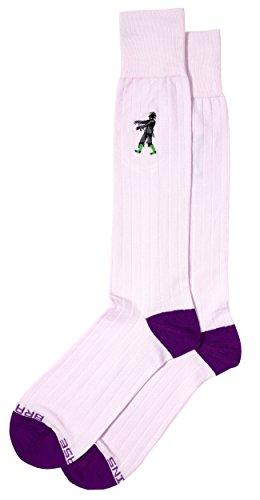 Zombie Embroidery Detail, Fun Pima Cotton Men's Dress Socks, Full ()
