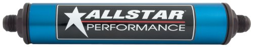 Allstar ALL40218 Blue 12'' Long x 2'' Diameter Anodized Aluminum -8 AN Inlet/Outlet In-Line Fuel Filter by Allstar