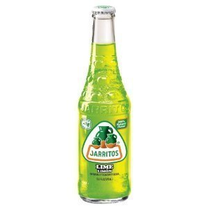 Jarritos Lemon Lime Mexican Soda Drink Glass Bottle 12.5 oz (Pack of 6) - 12.5 Ounce Beverage Glass
