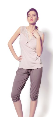 ESOTIQ & HENDERSON - Pijama - para mujer Beige/Grau