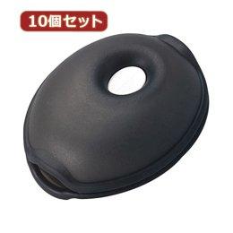 【まとめ 5セット】 YAZAWA 10個セットくるくるコード巻き クリアブラック KCM4CKX10 B07KNT67QD