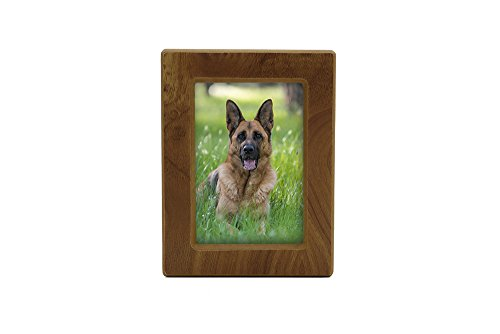 Near & Dear Pet Memorials MDF Photo Urn, 85 Cubic Inch, Natural Finish by Near & Dear Pet Memorials