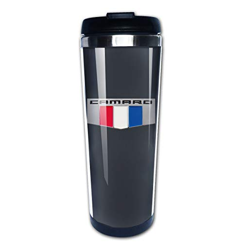 EARTGO Heat-Resistant Vacuum Insulated Stainless Steel Water Bottle Trave Mugs (400ml/13.4oz) with Lid Print Camaro Performance Car Coffee Mugs, for Home/Office/School/Travel/Camping/Hiking