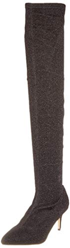 00 Elastic Buffalo Black 01 Overknee Starlight Boots Fabric Black Women's zU47qwv