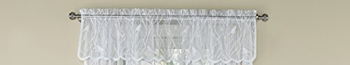 (Ben & Jonah Songbird Elegance by Ben&Jonah Sheer Lace Tailored Window Curtain Valance - White (56