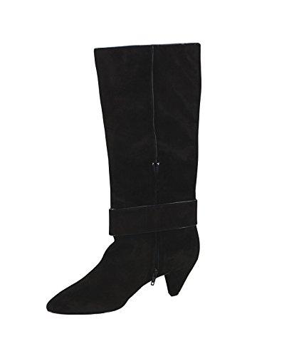 MISS SIXTY Damen Stiefel Boots SONIA Buckle Boot in Schwarz aus Wildleder Schwarz (Black)