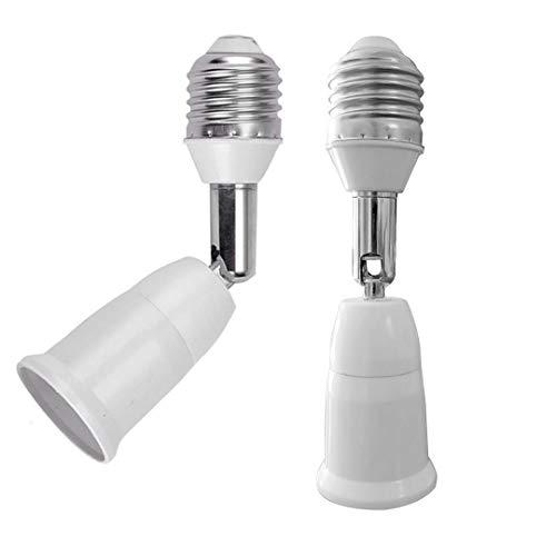 E26/E27 Standard Medium Light Socket Extender & Adjuster w/Vertical 90