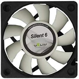 GELID SOLUTIONS Silent 6 de 3 Pines | Ventilador de 60mm para Cajas de PC estándar | Operación silenciosa | Aspas del Ventilador optimizadas.