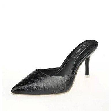 CN43 5 White Pu Sandals Casual Flat Women'S 5 Black Comfort US10 UK8 Summer Comfort EU42 RTRY wSqZ4Pxt