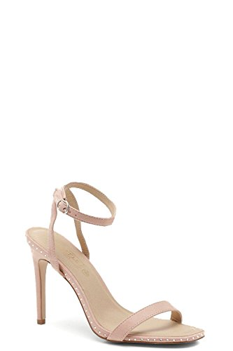 Rose Nude Heels There Barely YourPrimeOutlet Square Toe Womens fnxS5qa