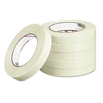 Medium-Duty Filament Tape, 3/4'''' x 60yds, 3'''' Core, Sold as 1 Roll