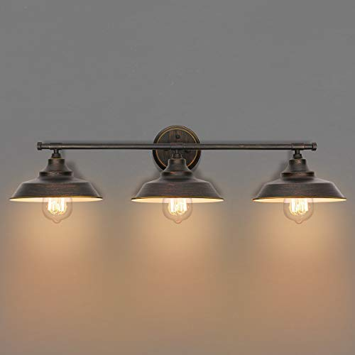 KingSo Bathroom Vanity Light 3 Light Wall Sconce Fixture Industrial Indoor Wall -