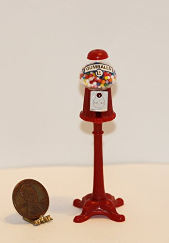 Dollhouse Miniature Vintage Gumball Machine by Chrynsbon (Miniature Gumball Machine)