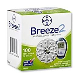 Bayer Breeze 2 Glucose Test Strips - 100 ct.