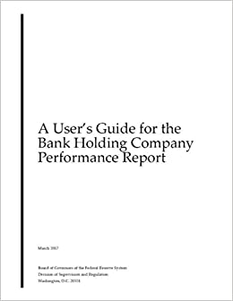 A User's Guide for the Bank Holding Company Performance