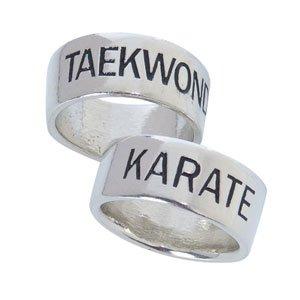 Band Martial Arts Ring Size 9 Karate (Martial Arts Rings)