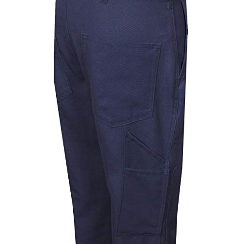 National Safety Apparel 42'' X 32'' Navy Duck 14 cal/cm Flame Resistant Pants With Zipper And Button Closure by NATIONAL SAFETY APPAREL INC (Image #1)