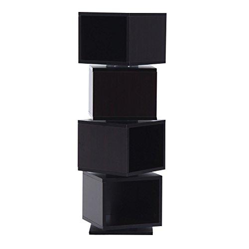 HomCom 4-Tier Rotating Cube Media Tower - Coffee