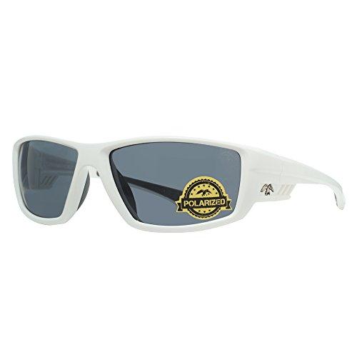 DUCK COMMANDER Men's D856 WH1 Polarized Sunglasses, Shiny White