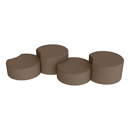 - Sprogs SPG-1014XX-A-4PK-CH-CH Crescent Stool Common Space Seating, Brown