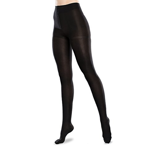 Ease Pantyhose - 15-20mmHg Gradient Medical Compression Tights (Black, S Long)
