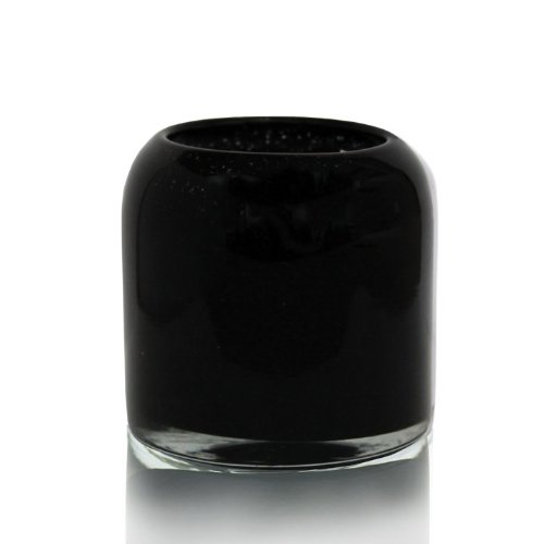 Alassis Rounded Art Glass Candle 13.2 Oz, Black Spice