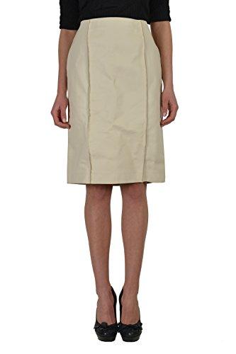 Maison Martin Margiela 100% Calf Leather White Straight Pencil Skirt US M IT (Martin Margiela Women Skirts)