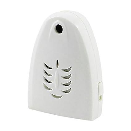 Sensor de movimiento inalámbrico blanco Triángulo de saludo de bienvenida timbre de la puerta