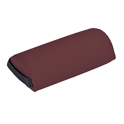 EARTHLITE Bolster Pillow Neck - Durable Massage Bolster, 100% PU Upholstery incl. Strap Handle/Professional Quality for Massage Tables/Back Pain Relief, Burgundy (Pillow Upholstery)