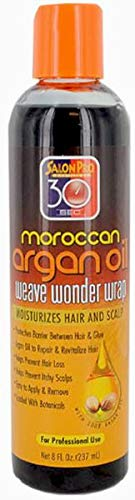 - Salon Pro 30 Sec Moroccan Argan Oil Weave Wonder Wrap Dark