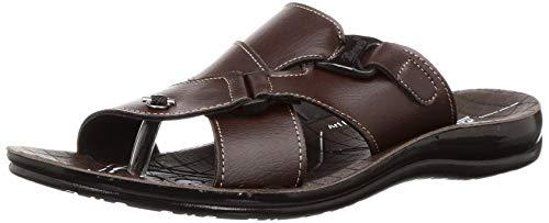PARAGON Men's Brown Flip Flops Thong Sandals-8 UK/India (42 EU) (PU6662G)