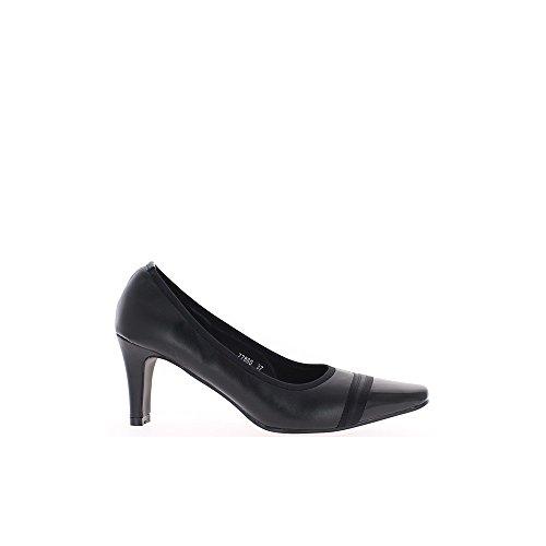 Escarpins femme noirs bouts droits talon 8cm