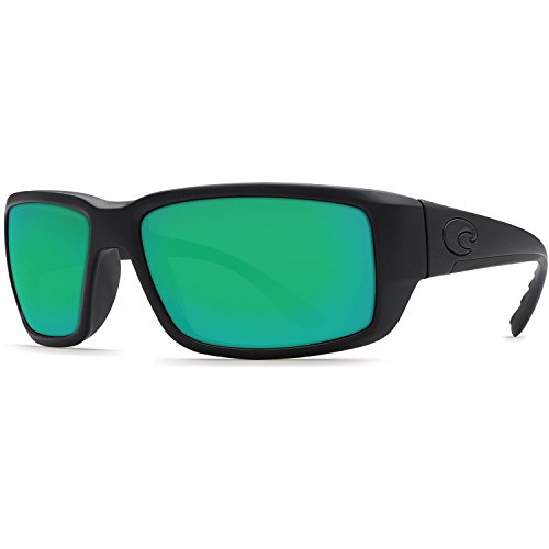 Costa Del Mar Fantail Sunglasses, Blackout, Green Mirror 580 Plastic - Blackout Fantail