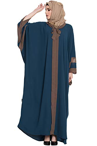 Abayalooks Teal Afghani Butterfly Abaya For Women
