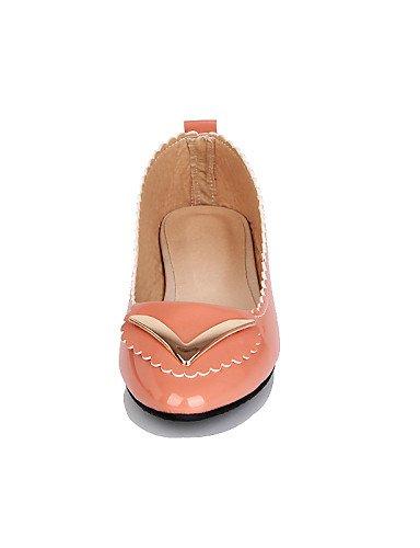 PDX/ Damenschuhe - Ballerinas - Lässig - Lackleder - Niedriger Absatz - Spitzschuh - Schwarz / Rosa / Beige pink-us6.5-7 / eu37 / uk4.5-5 / cn37
